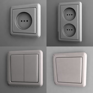 3d model outlet switch