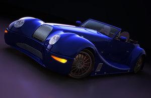 classic morgan aero sports car obj