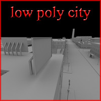 3d city industrial model