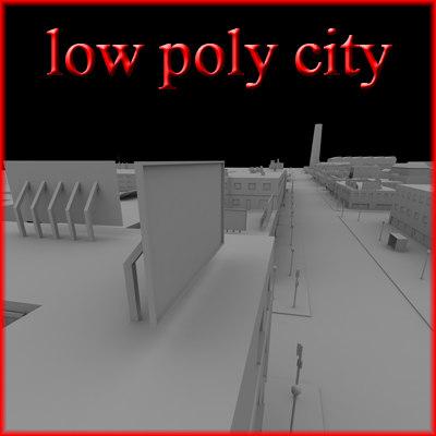 3d city industrial model