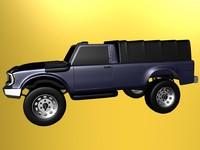 3d pickup offroad model