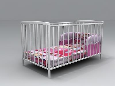 beds baby 3d model