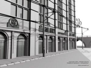 3d new york city street