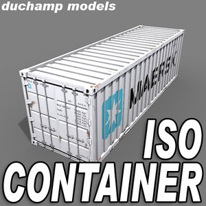 iso container 3d model