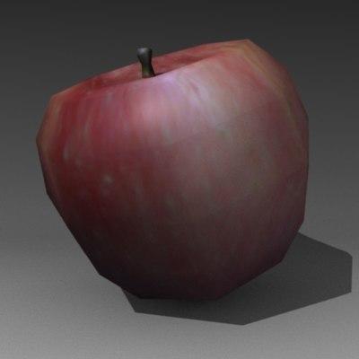 fruit apple 3d model