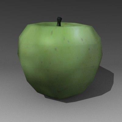 fruit apple 3d 3ds