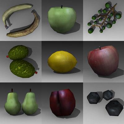 3d model fruit games bananas