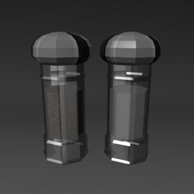 3d model shaker salt pepper