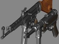 mp44 44 carbine mp40 3d model