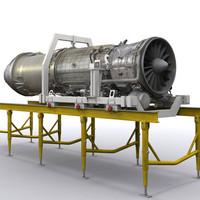 f404 engine 3d model