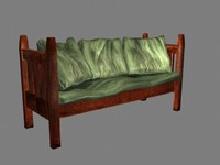 couch arts crafts 3d model