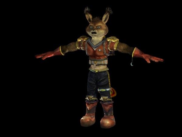 3d model character cartoon fox