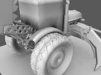 3d model transformer tractor