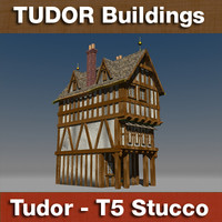 T5 - Tudor style medieval building STUCCO