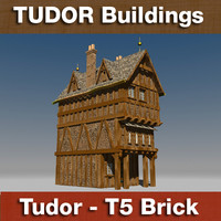 T5 - Tudor style medieval building - BRICK