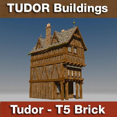 3d model t5 - tudor style