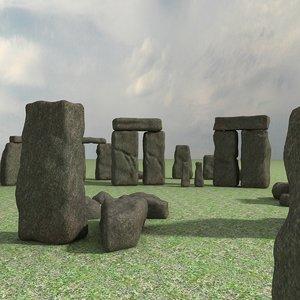 3d model stonehenge world wonders