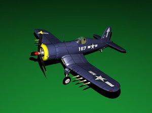 maya corsair airplane fighter