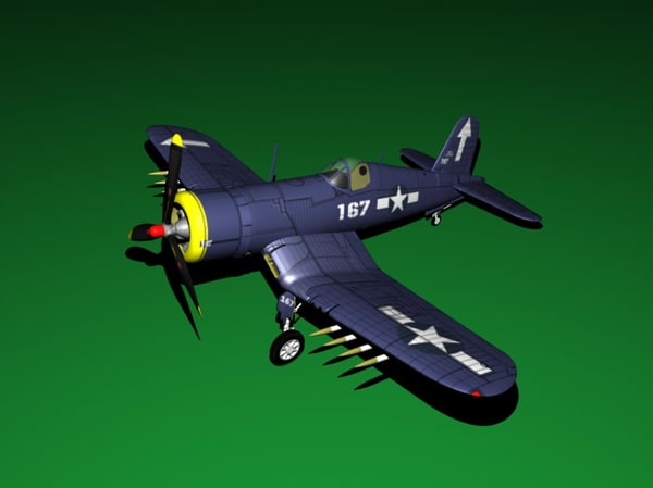 maya corsair airplane fighter