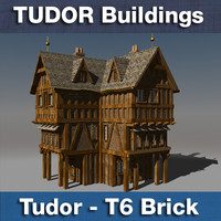 T6 Tudor style medieval building - BRICK