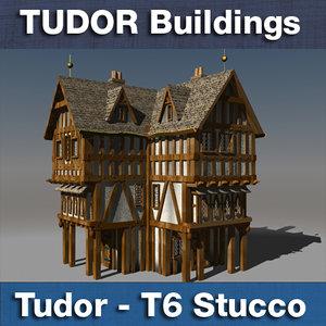 c4d t6 tudor style medieval building
