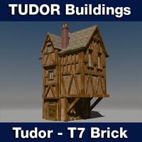3ds t7 tudor style medieval building