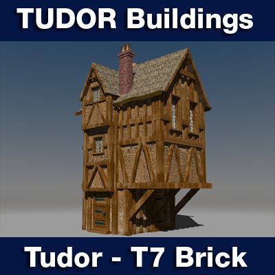 3ds t7 tudor style medieval building