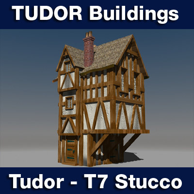 3dsmax t7 tudor style medieval building