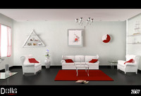 Metal and red (Simpel Livingroom)