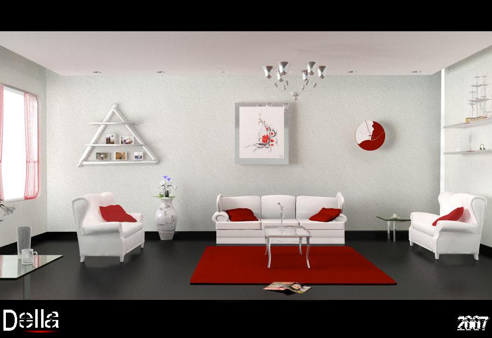 3d model living room simpel