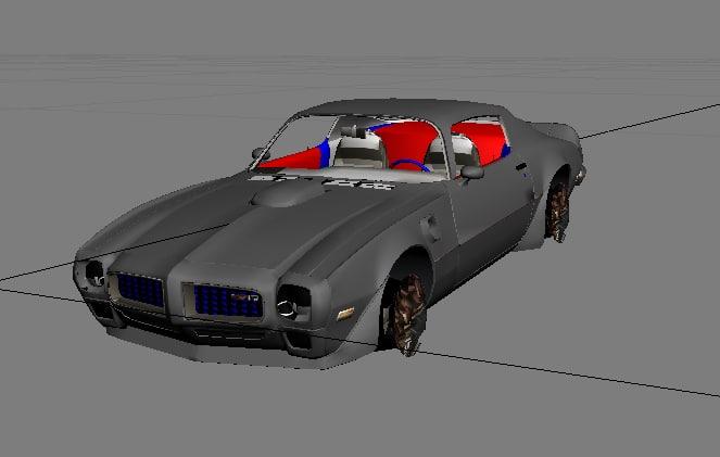 pontiac trans 3d model