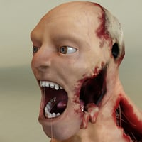 3d zombie modelled