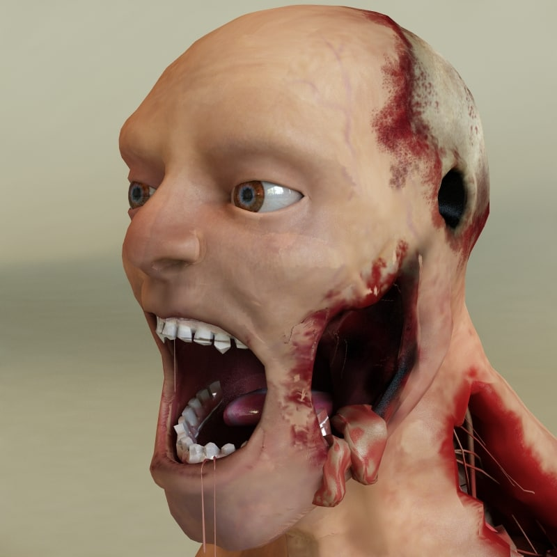 3d zombie modelled
