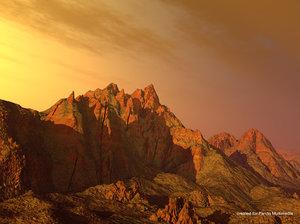 3d model mountains scene