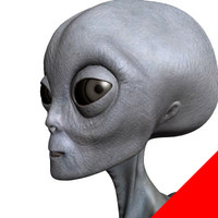 3ds max gray alien