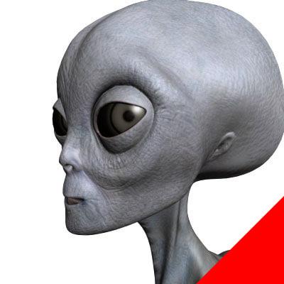3ds max gray alien