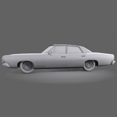 3d model cop car