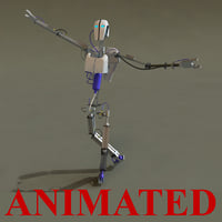 3d model robot rigged animation