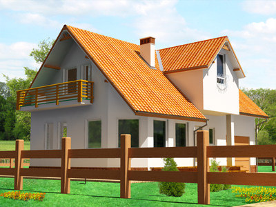 complete individual house 3d model