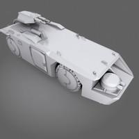 3d apc personel carrier m577 model