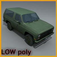 3d suv vehicle model
