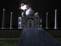 3d model taj mahal zipped