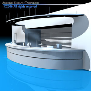 3d office reception desk