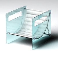 3d modern acrylic sling chair