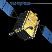 satellite sat skymed 3d model