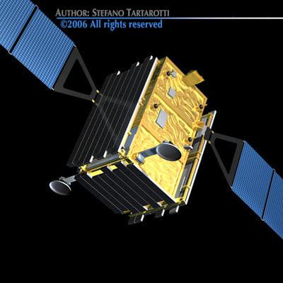 satellite sat skymed 3d model