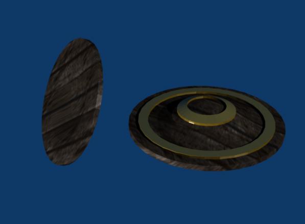 3d model wooden shield