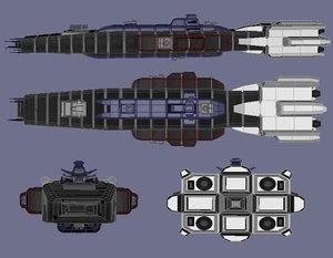3d arclight warship model