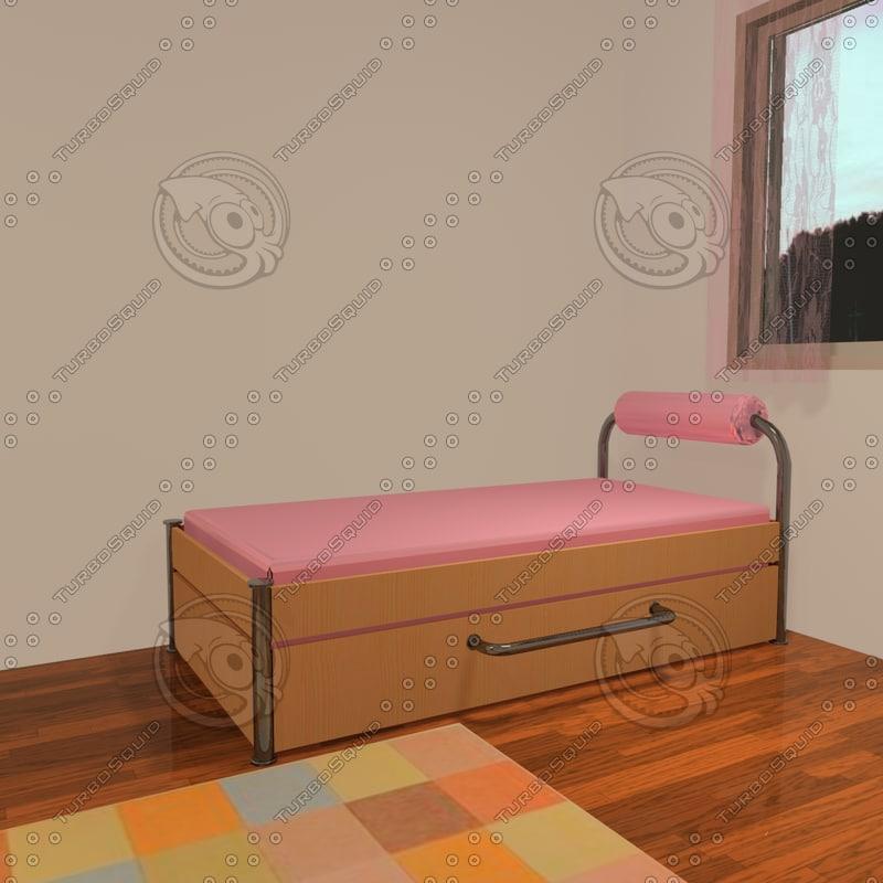 dwg bed bedroom teenage