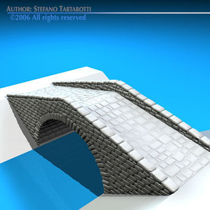 3d model of stone bridge